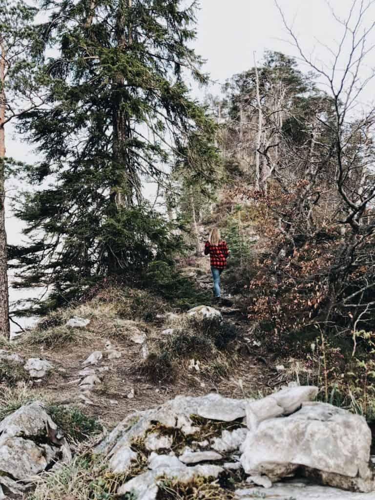 Hiking up Großer Barmstein