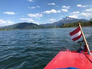 Boat trip on Mondsee