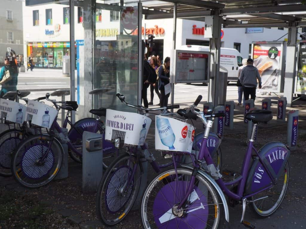 Citybikes Salzburg in F.Hanusch-Platz