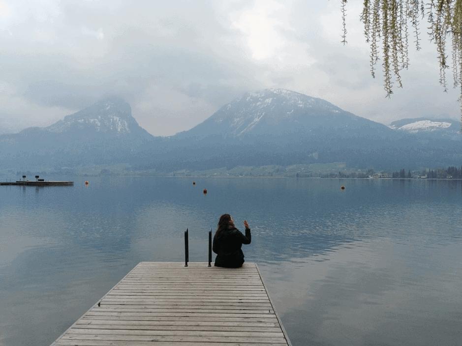 Lake, View, St. Wolfgang, Salzkammergut