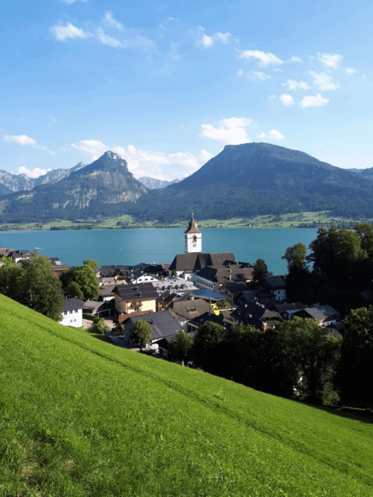 St. Wolfgang, View, Church, Mountains